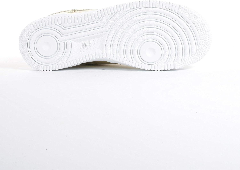 Nike AIR Force 1 SP Metallic GO Basket Femme Doré Blanc