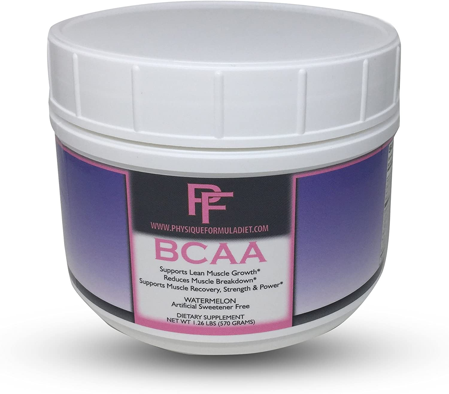 Physique Formula BCAA Powder-Artificial Sweetener Free Branched Chain Amino Acids Powder Watermelon Flavor 1.26 Lbs 30 servings