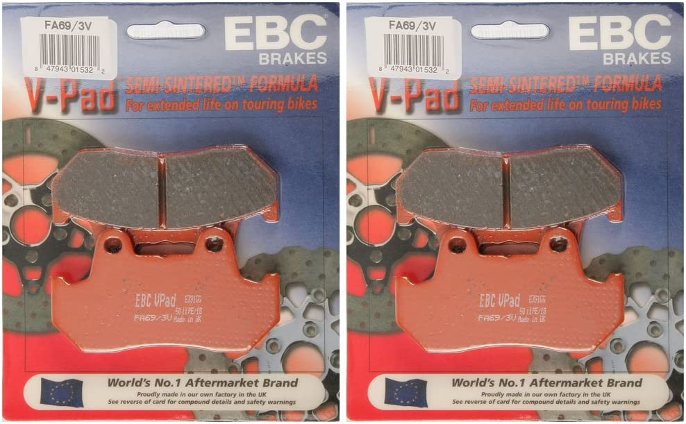 Semi-Sintered V Brake Pads EBC  FA69//3V