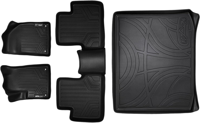 All Models SMARTLINER Custom Fit Floor Mats and Cargo Liner Set Black for 2014-2019 Jeep Cherokee