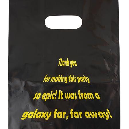 Lifetime Inc Party Favor Goodie Bags Tema Suministros de cumpleaños Plástico con mango (Galaxy)