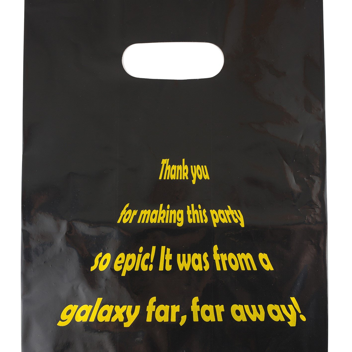 Lifetime Inc Party Favor Goodie Bags Theme Birthday Supplies Plastic with Handle (Galaxy)