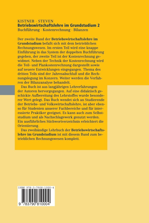 Betriebswirtschaftslehre im Grundstudium, Bd.2, Buchführung - Klaus ...