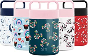 Simple Modern Provision Insulated Food Jar Thermos Leak Proof Stainless Steel Storage Lunch Container, 12oz, Disney: Mickey Floral on Riptide