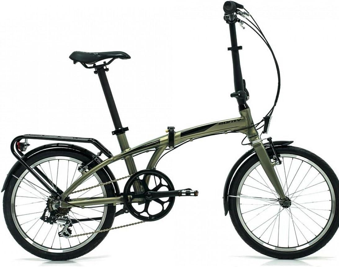 Monty Folding - Bicicleta Plegable, Color Gris, 20