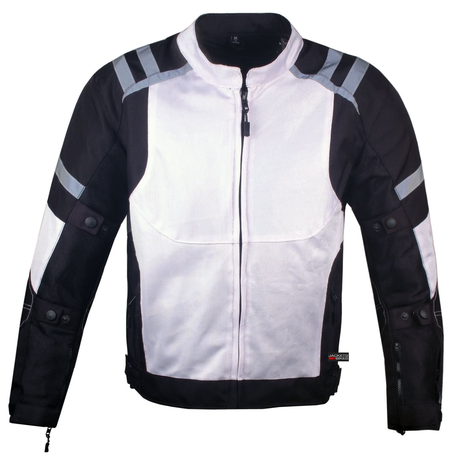 Mens Storm Mesh Summer Armored Reflective Waterproof White Motorcycle Jacket XL