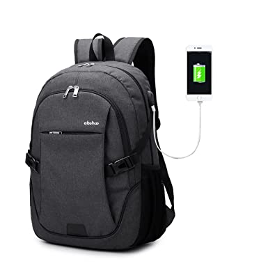 Abshoo Classical Casual Laptop Backpack For College Vintage School Bookbag Black