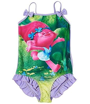 eb56dd23da Trolls Girls Swim suit - purple  Amazon.co.uk  Clothing