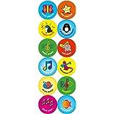24mm Music reward stickers: 120 stickers