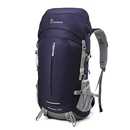 215e766d4d Mountaintop 50L Outdoor Sport Water-resistant Internal Frame Backpack  Hiking Backpack Backpacking Trekking Bag with