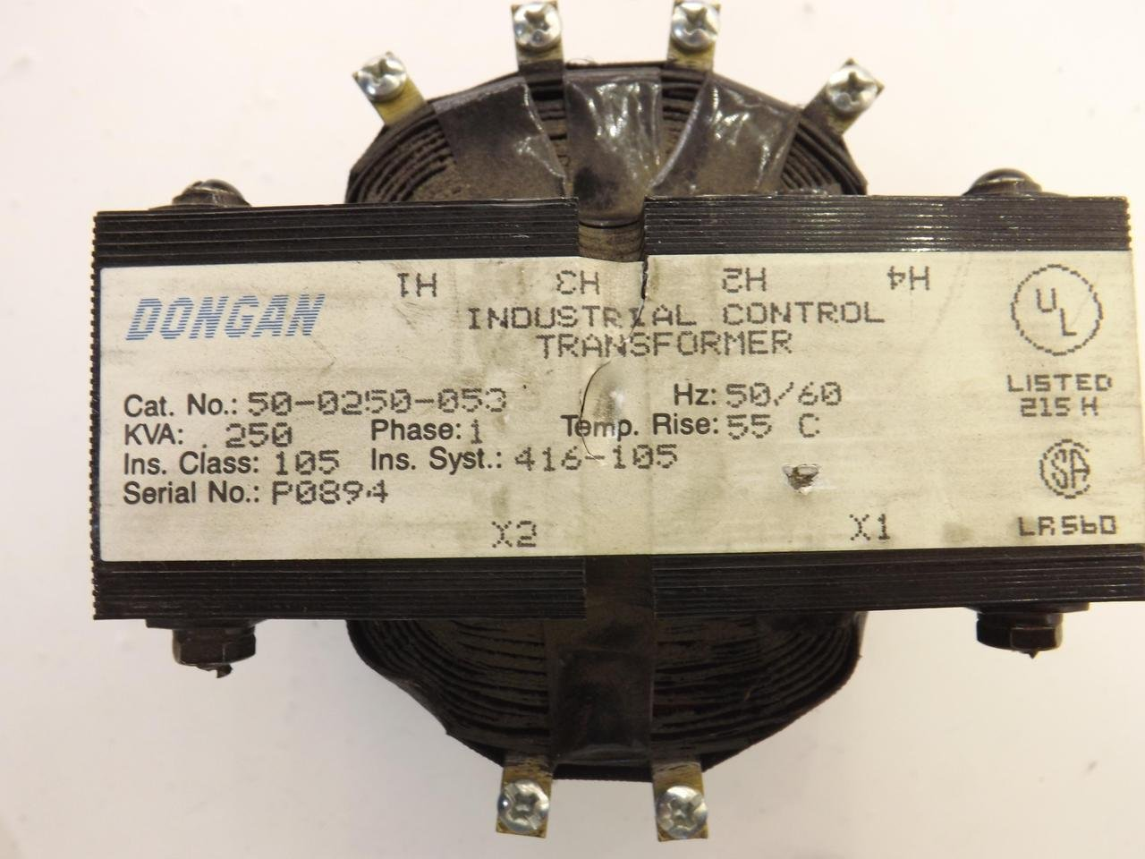 Dongan 50-0250-053 Industrial Control Transformer T36765