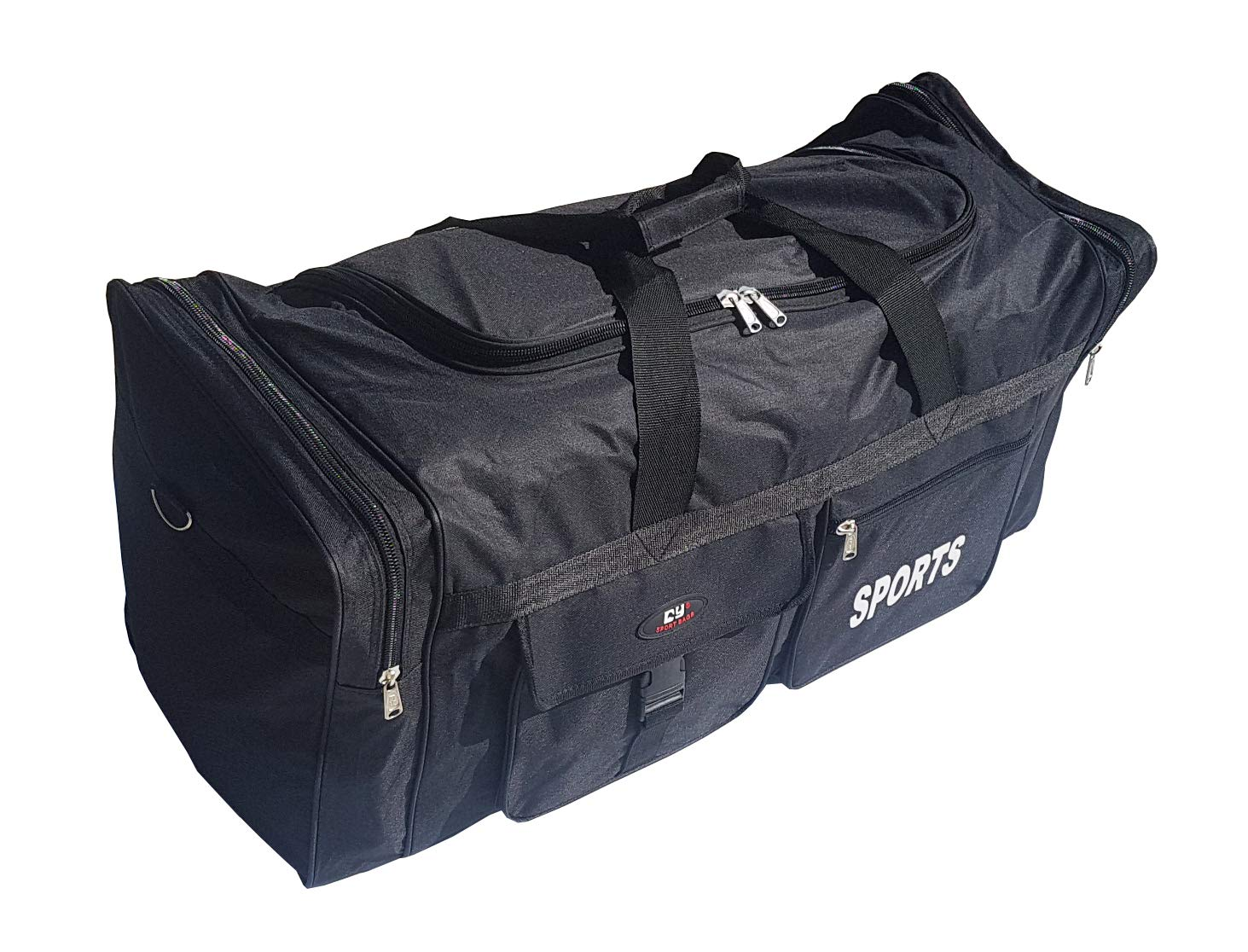 110 Liter Duffel Sport Bag extra Large XXL. Suitcase Ideal for Sport, Gym, Travel and Storage. Very Resistant and Waterproof. Unisex, Black. M&N