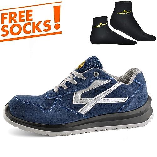 Zapatos de Seguridad para Hombres con Puntera de Fibra de Vidrio - SAFETOE 7328 Zapatillas Ultra