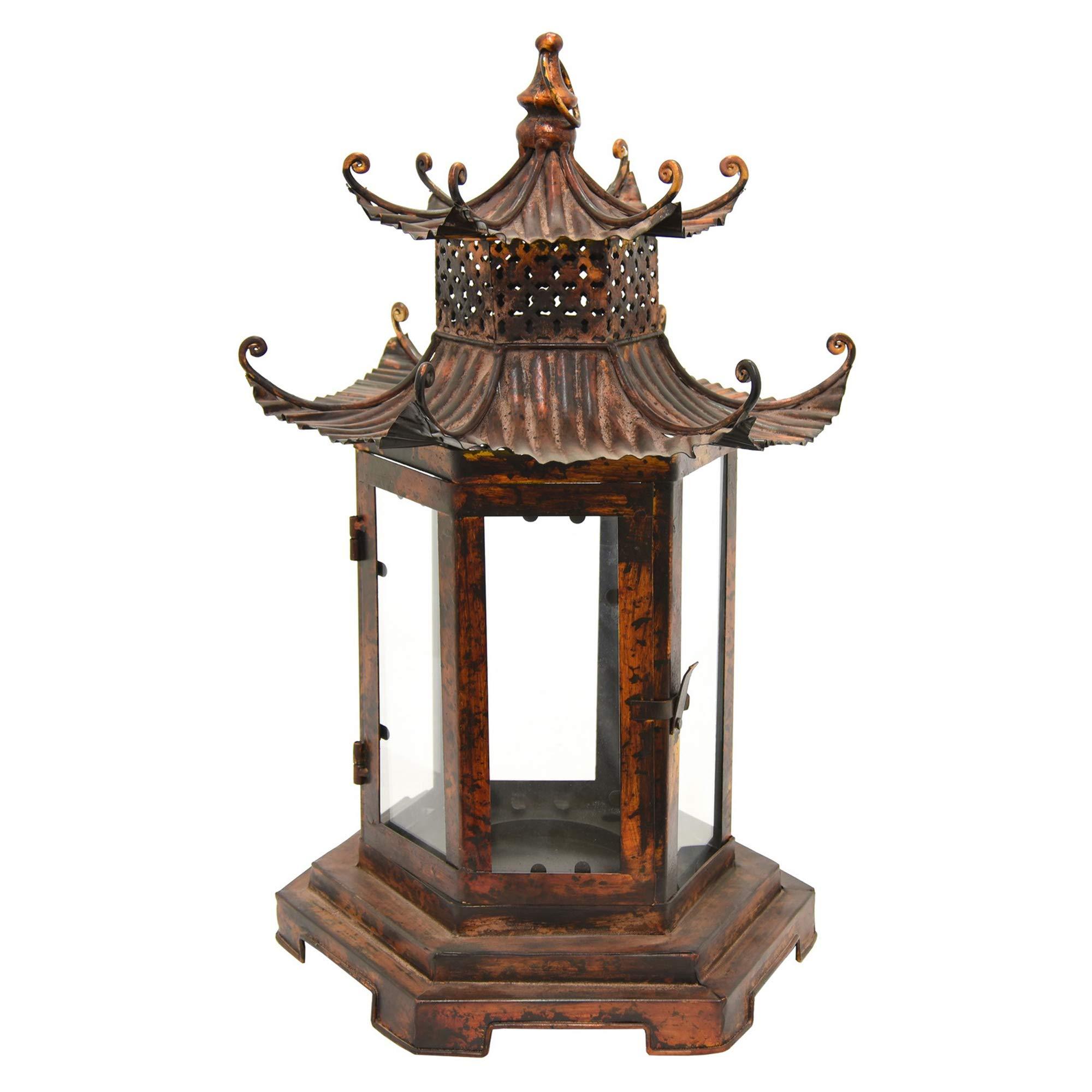 Three Hands 21.75'' Pagoda Lantern in Brown