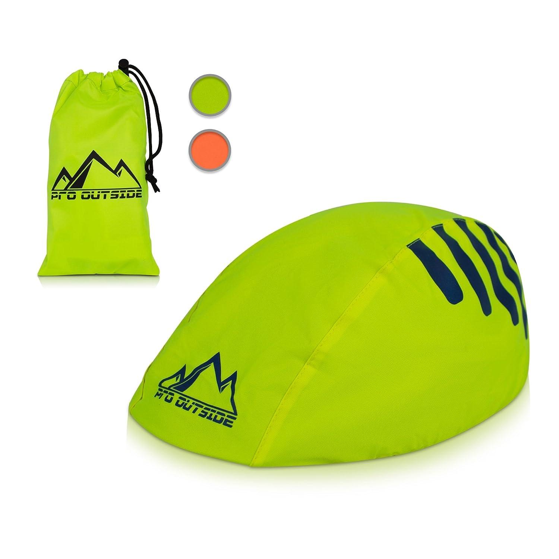 Premium Helmüberzug und Fahrradhelm Regenschutz plus GRATIS E BOOK mit Aufbewahrungstasche I Wasser und