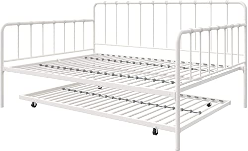 LikeHome Aaron Full Size Daybed and Twin Size Trundle Metal Bed Frame