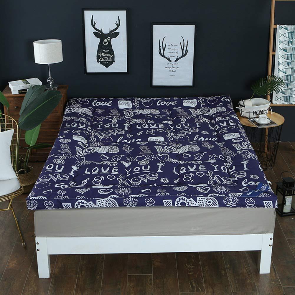 A 120x200cm(47x79inch) Seasons Thicken Warmth Tatami Floor mat,Student Dormitory Single Double Foldable Mattress-G 150x200cm(59x79inch)
