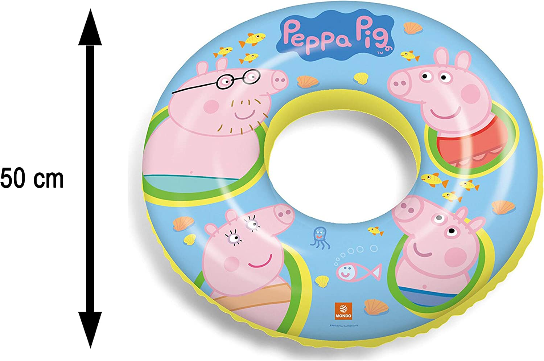 JOVAL® -Set Infantil para Piscina de Peppa Pig. Pelota, Flotador y ...
