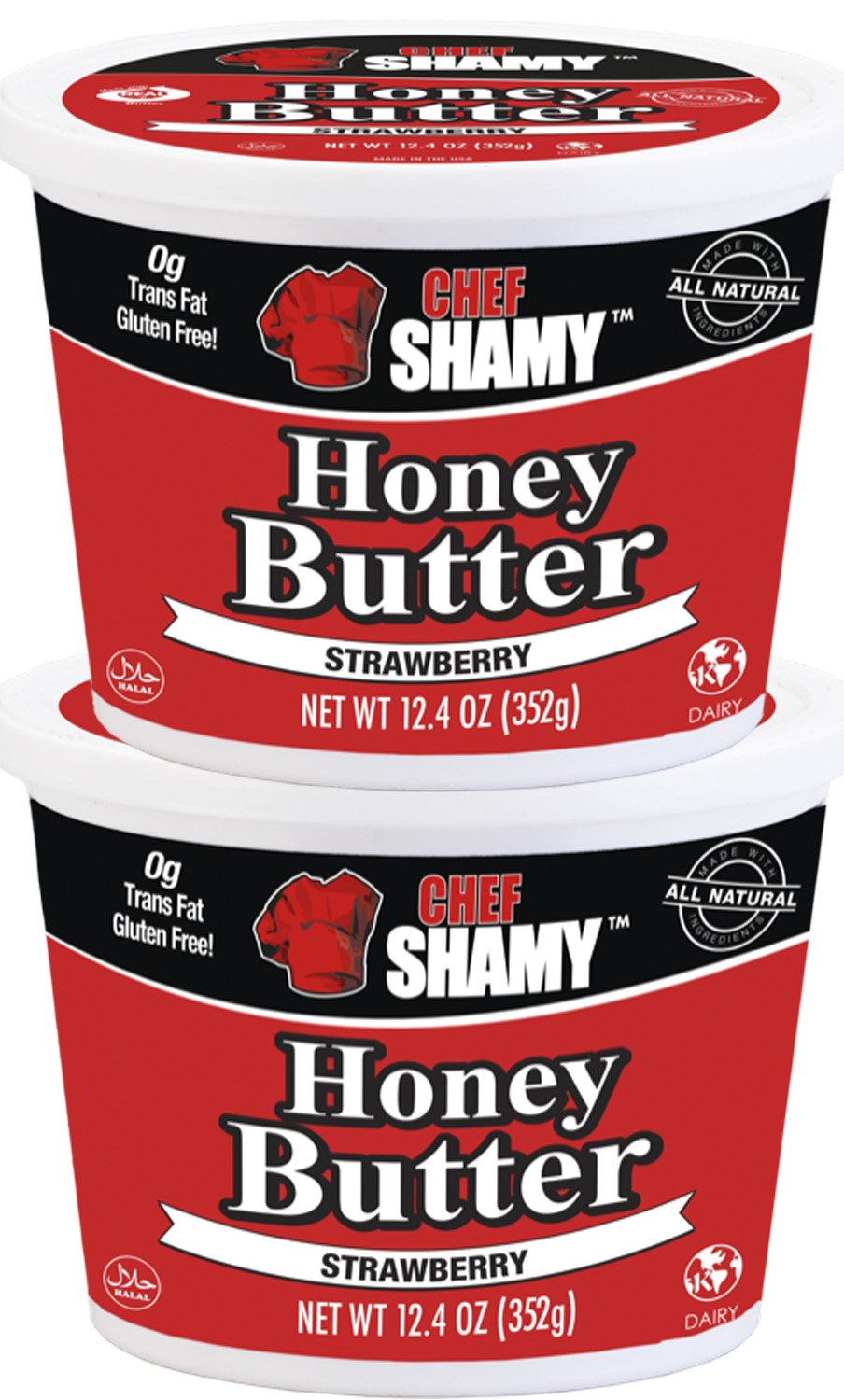 Chef Shamy Butter, Strawberry Honey, 12.4 Ounce (Pack of 2)