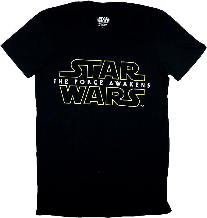 Camiseta negra oficial de Star Wars VII para hombre con el lema
