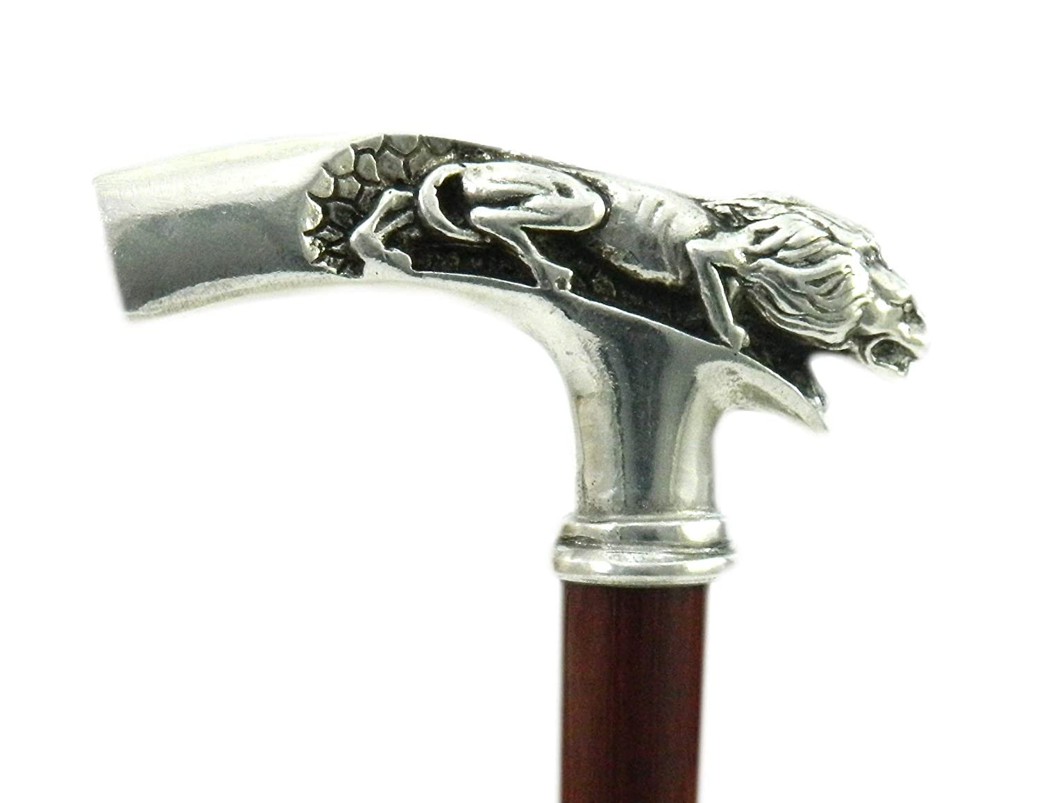 Cavagnini made in Italy classy model Walking canes and stick liberty style Lion 38 for the elderly tailor-made for you
