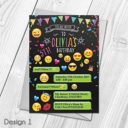 Personalised Emoji Party Invitations