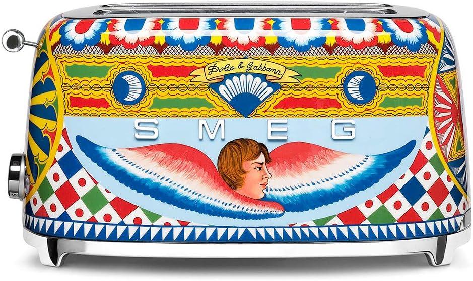 Dolce and Gabbana x Smeg TSF02DGUS 4 Slice Toaster,