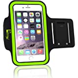 Premium Armband for iPhone 7/8 Plus & Samsung S7 Edge with Fingerprint ID Access. Running Phone Holder Case for Sports, Fitness and Exercise