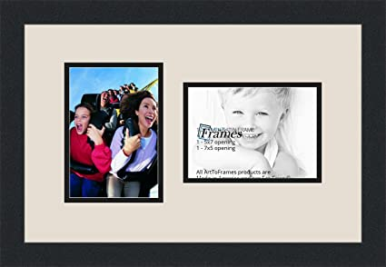 Amazon Arttoframes Collage Photo Frame Double Mat With 2 5x7