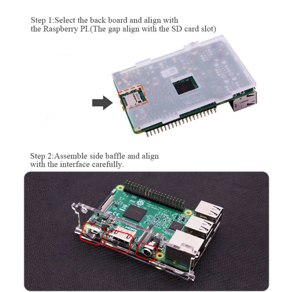 Hqtechfly Clear Transparent Acrylic Shell Case Box Cover Step 2 Select A Circuit Board With Cooling Fan For Raspberry Pi 3 Model B And Yahboom