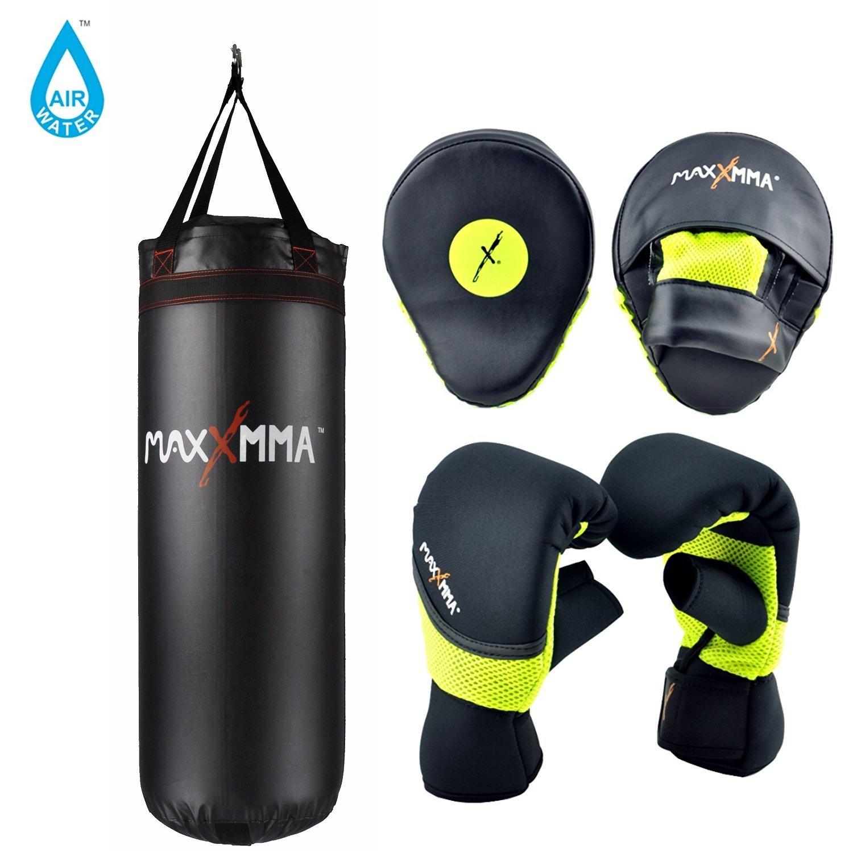 MaxxMMA & 3 ft Gloves。水/ Air重いバッグ70120ポンド。+ネオンネオプレンWashable MaxxMMA Heavy Bag Gloves & Pro Mitts L-XL B06X3XSLMM, ミヤギグン:fd8d1926 --- capela.dominiotemporario.com