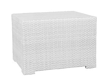 Gartentisch 120x60.Konway Gastronomie Rattan Garten Tisch 120x60 Cm Gartentisch Garten Beistelltisch Möbel Weiß