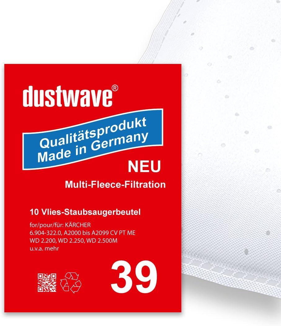 dustwave® Megapack – 20 bolsas para aspiradora Kärcher WD 2.200 ...