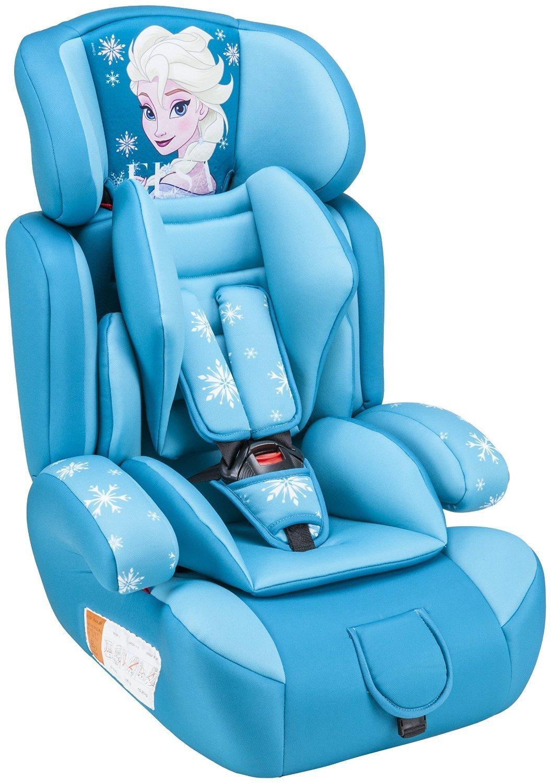 Disney Piku NI20.6260 - Silla de coche, grupos 1/2/3 (9-36 kg, 1-12 años), diseño de Frozen, color azul turquesa
