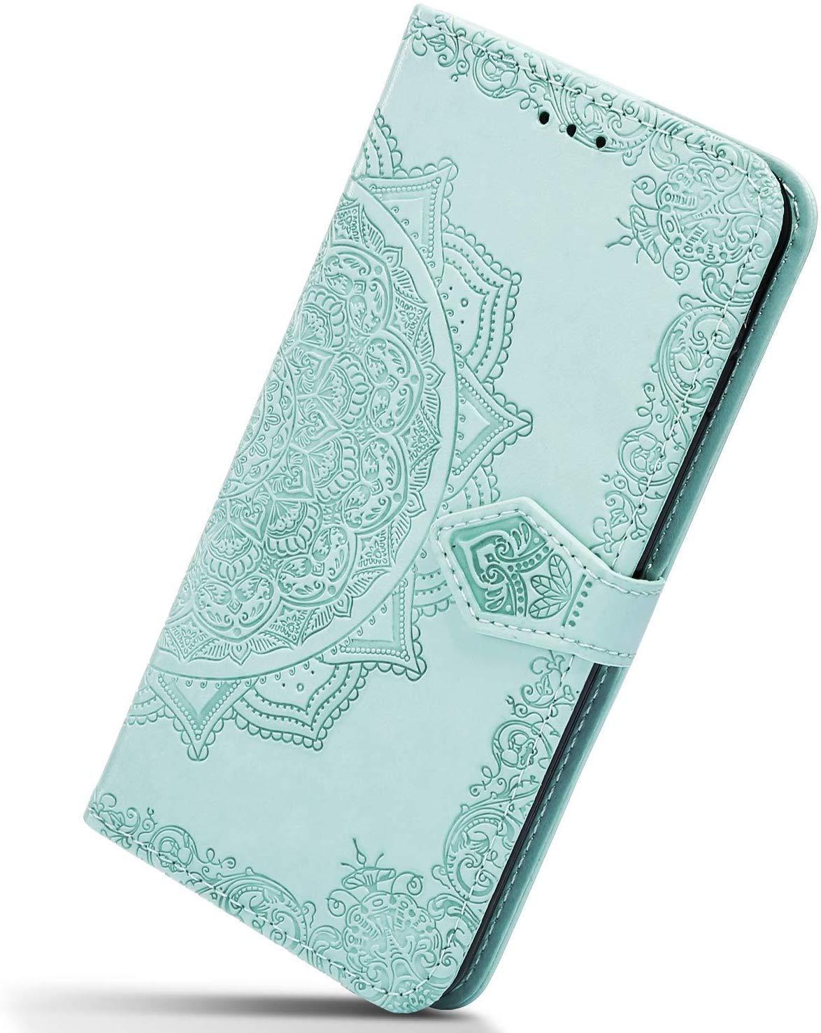 Herbests Compatible avec Huawei P30 Lite Case Ultra Mince Portefeuille,Emplacement Carte,Fermeture Magn/étique,Rabat Flip Case,Clapet Folio /Étui,Cuir PU TPU Cartes Slots Cuir Case,Violet