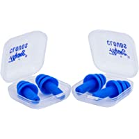 flying CLOUDS Soft Silicone Noise Reduction Ear Plugs for Sleeping; Meditation; Swimming Adult and Child; Combo Pack of 2 Pairs (4 Units); Reusable Earmuff (Blue)