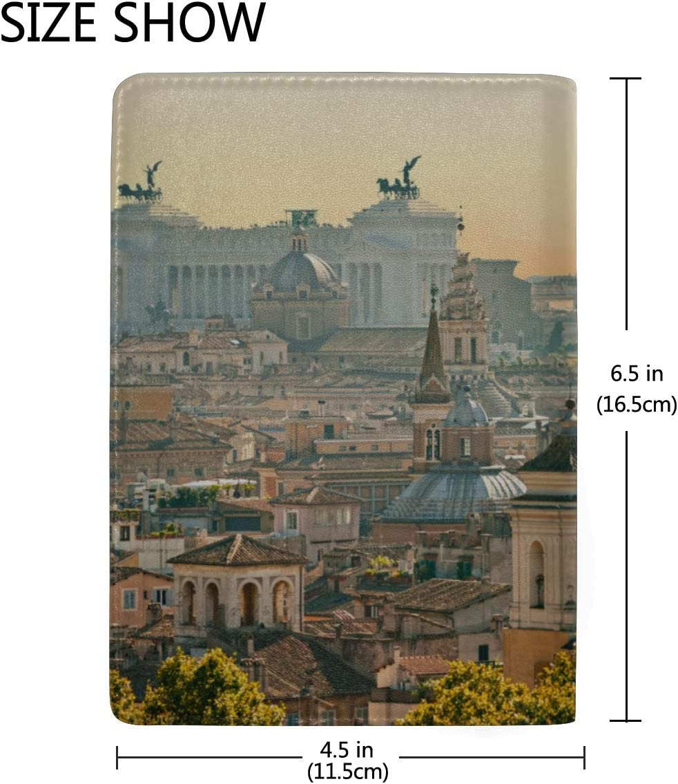 Card Passport Cover Ancient Great Roman Architecture Stylish Pu Leather Travel Accessories Card Passport Cover For Women Men