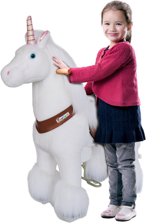 Pony Cycle® Boutique original Pony sur roulettes fahrendes Cheval à bascule et Doudou pour votre enfant Medium N4042Dénoyauteur de