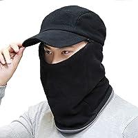 db338a70189a4 3 in 1 Soft Fleece Trapper Hat Baseball Cap Earflaps Neck Gaiter Warmer  Scarf Hood Face