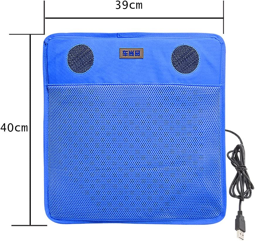 Computer Cooling,Yellow HJJH Cooling Car Seat Cushion,USB Car Seat FAN Cushion,Suitable Car Seat Morning Exercise
