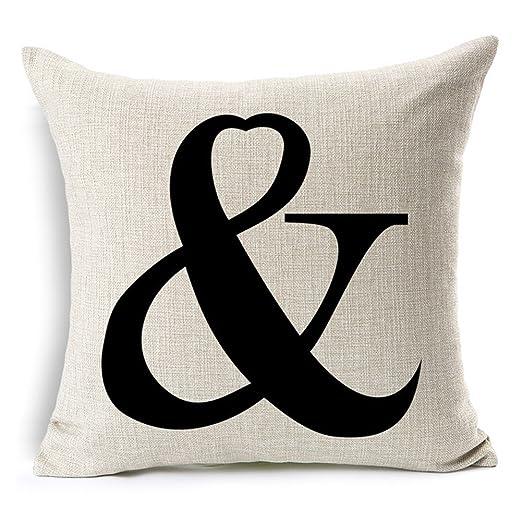 Aumey Simple manta de lino y algodón cuadrado lino funda de ...