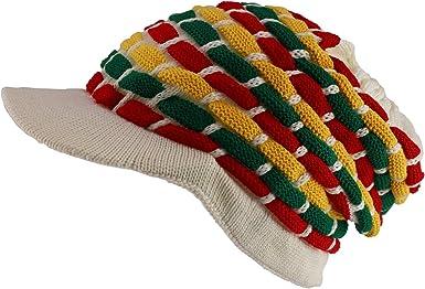 Armycrew 100/% Cotton Rasta Slouchy Dreadlock Jamaica Long Knit Beanie Visor