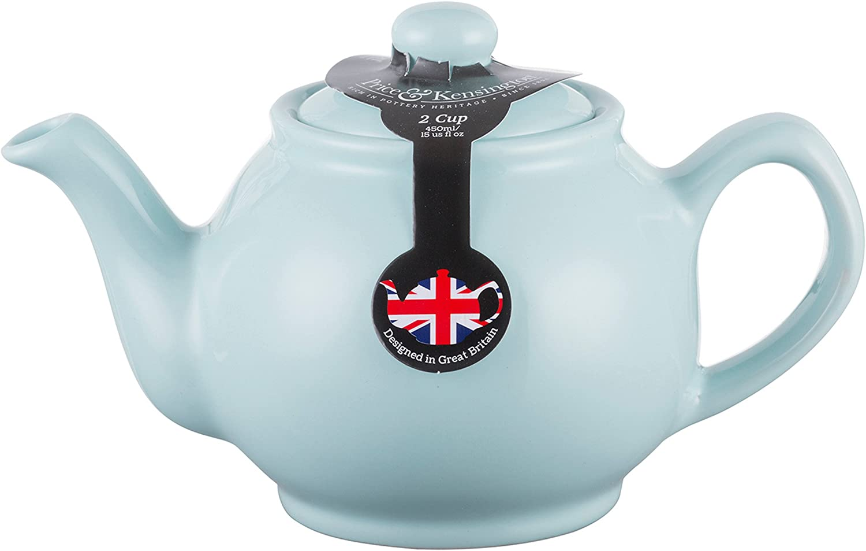 2 Tassen Teekanne blau Price /& Kensington gl/änzend Steingut