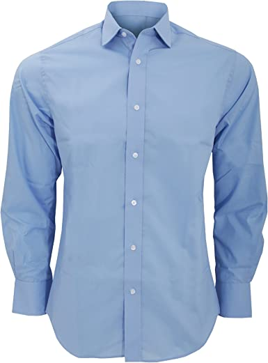 KUSTOM KIT - Camisa de Manga Larga Corte de saste Modelo Tailored Fit Hombre Caballero - Fiesta/Trabajo/Eventos: Amazon.es: Ropa y accesorios