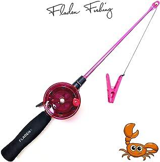 Fladen My-Fishing-World Kinderangel Krebsangel 40cm Kinder Strand & Urlaub Angel Krebs & Krabben/inkl.Schlüsselband Gratis