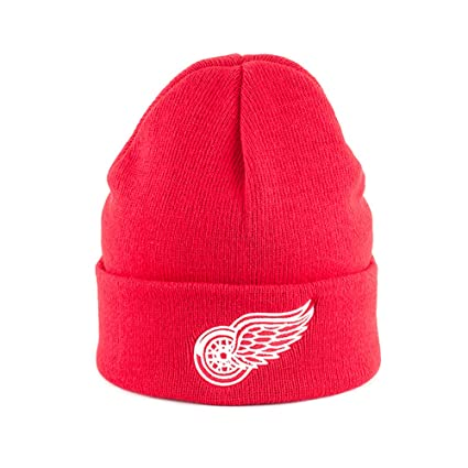 Amazon.com   American Needle NHL Detroit Red Wings Basic Knit Beanie Hat    Sports Fan Beanies   Sports   Outdoors 15e0a5f39d6