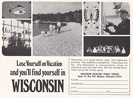 Amazon 1968 wisconsin lose yourself wisconsin tourism print 1968 wisconsin lose yourself wisconsin tourism print ad solutioingenieria Gallery