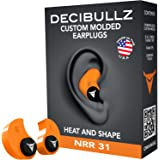 Tappi per le orecchie Decibullz, modellabili a piacere: taglia unica, per viaggi, sicurezza, lavoro.