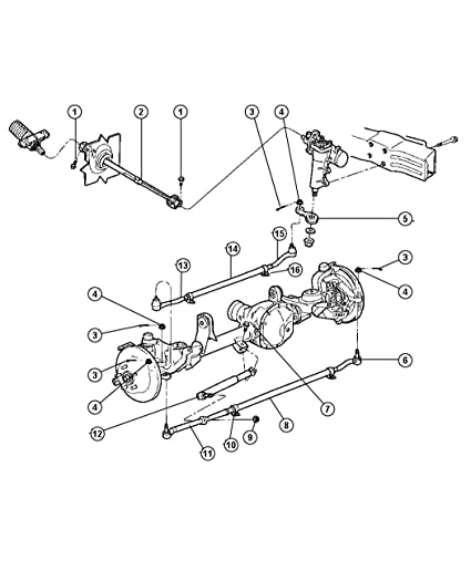 Amazon Com Mopar 5208 8463ab Steering Tie Rod End Adjusting Sleeve