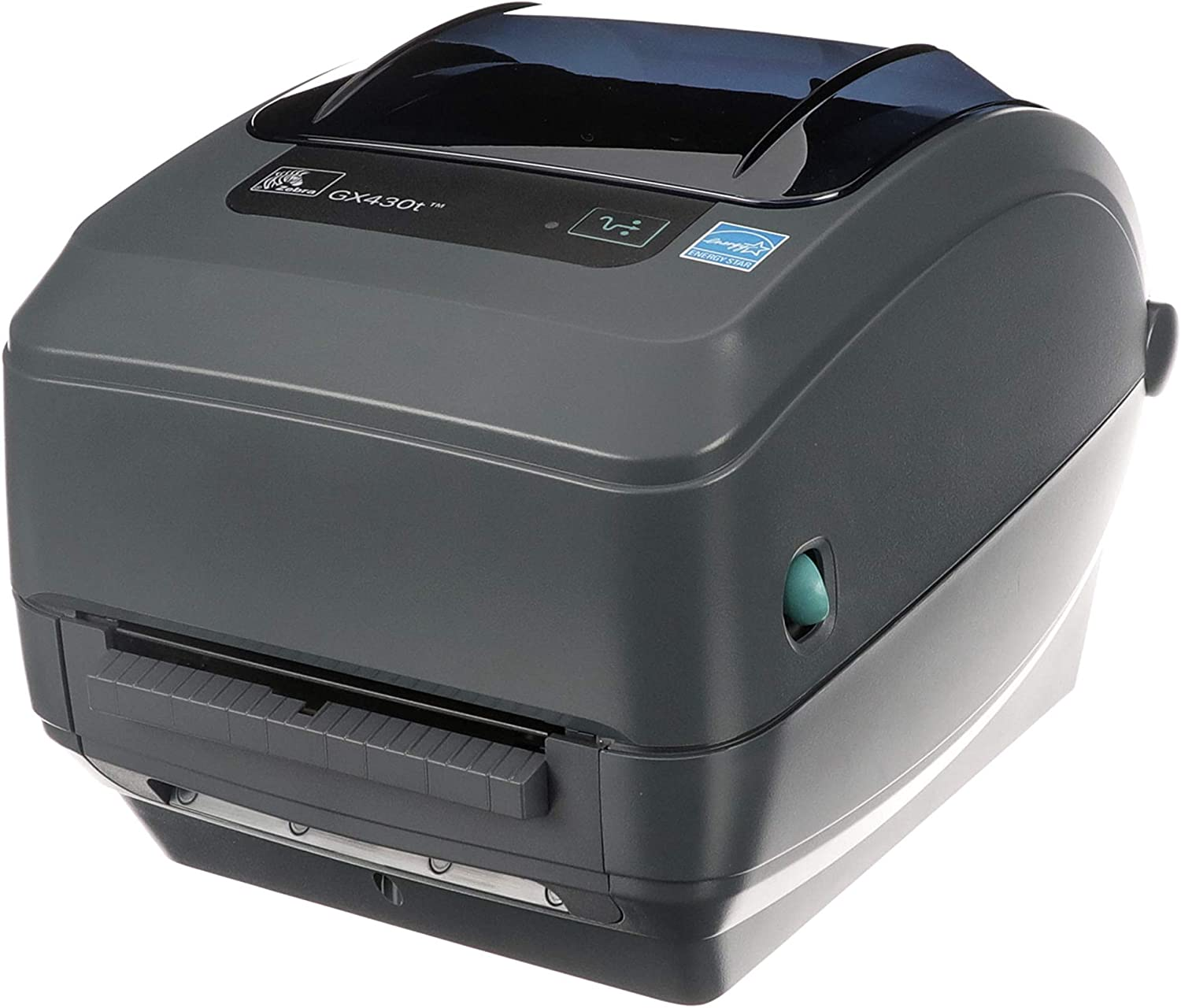 Zebra GX430t Thermal Transfer Desktop Printer Print Width of 4 in USB Serial Parallel and Ethernet Connectivity Includes Peeler - GX43-102411-000